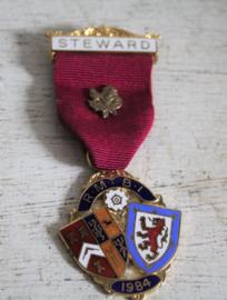 Medaille Vrijmetselaars - Steward R.M.B.I 1984