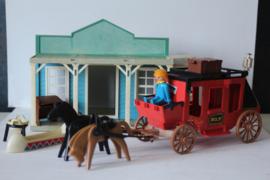 Playmobil western combi  - Bank 3422 en postkoets 7428