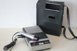 Aristona 9109 draagbare cassette recorder met originele microfoon in nieuwstaat