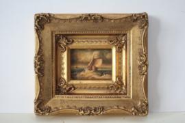 Rene Tempur - Maritiem schilderij van een scheepje op zee