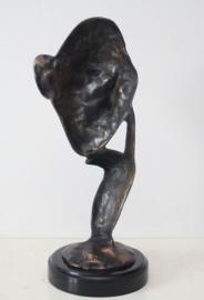"""Bronzen sculptuur """"de Denker"""" naar A. Barye"""