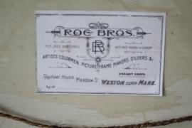Albast plaquette van Napoleon te paard, in barokke lijst