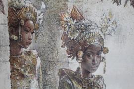 Steendruk/Litho - W.G.Hofker - Balinese danseres