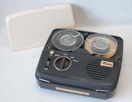 Miny (mini) reel to reel tape recorder met bandjes