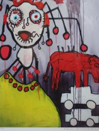 Paul Kostabi - Abstract werk - Lithografie 25/75