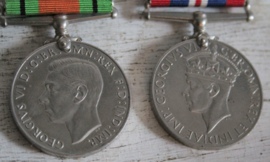Medailles - 2 WWII Defence medailles, V.K.