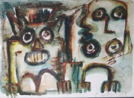 Jacob Kanbier - Modern Aquarel - 1998