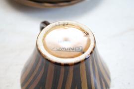 Sarreguemines - 6 koppen met schotels - Domino