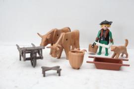 Playmobil - Boer / koeien / vee houder