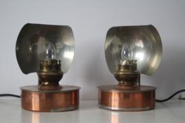 2 schemer / nacht lampjes - Industrieel