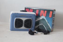 Sunnyco SL-790 Cassette speler/ Walkman Blauw/Wit - NOS