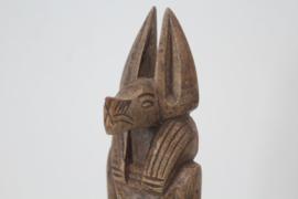 Spekstenen beeld van de Egyptische God Anubis - 1e helft 20e eeuw