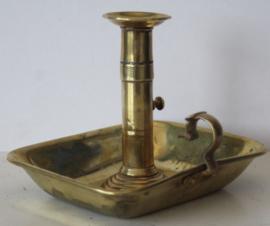 Antieke messing oor kandelaar - 19e eeuw