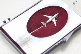 Zilveren 925/1000 (das)speld met een Boeing / vliegtuig