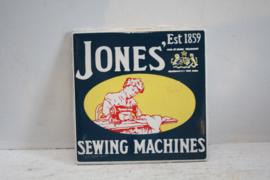 Vintage reclame tegel - Jones Sewing Machines