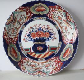 Majestueuze Imari schaal, maar liefst 52 cm in diameter - Japan - Eind 19e eeuw