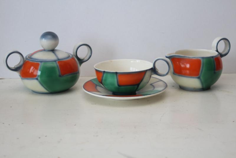 Art Deco thee servies - Ditmar Urbach, Tsjechoslowakije uit de jaren '30