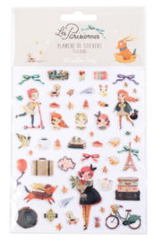 Moulin Roty - Set van 52 stickers - Les Parisiennes