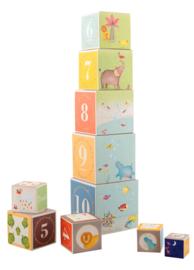Moulin Roty - Stapelblokken dieren- les Papoum