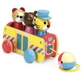 Vilac- Trekfiguren Dieren in Bus