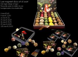 Luxe magneetdozen, gepersonaliseerd in verschillende maten en kleuren.