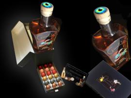Luxe lade doos met heel veel eitjes (24) en een bijzondere drank uit ons kunstzinnige assortiment. Vanaf: