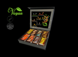Large - Luxe 100% vegan bonbons - Assortiment van vegan, lactose en glutenvrije luxe chocolade (48 stuks)
