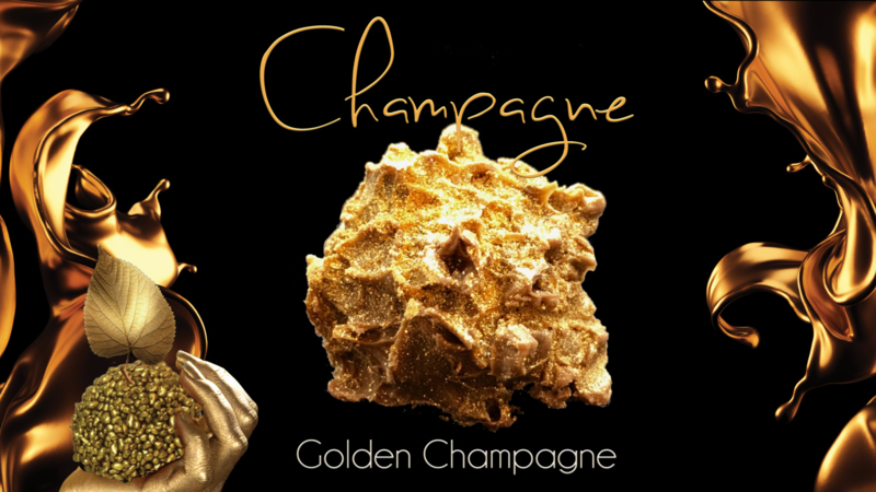 Echte blad-gouden Champagne Truffels