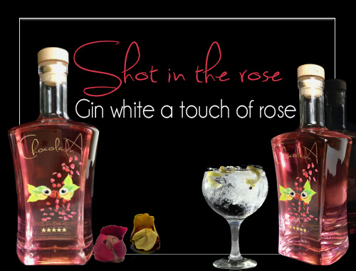 Gin 'Shot in the rose'