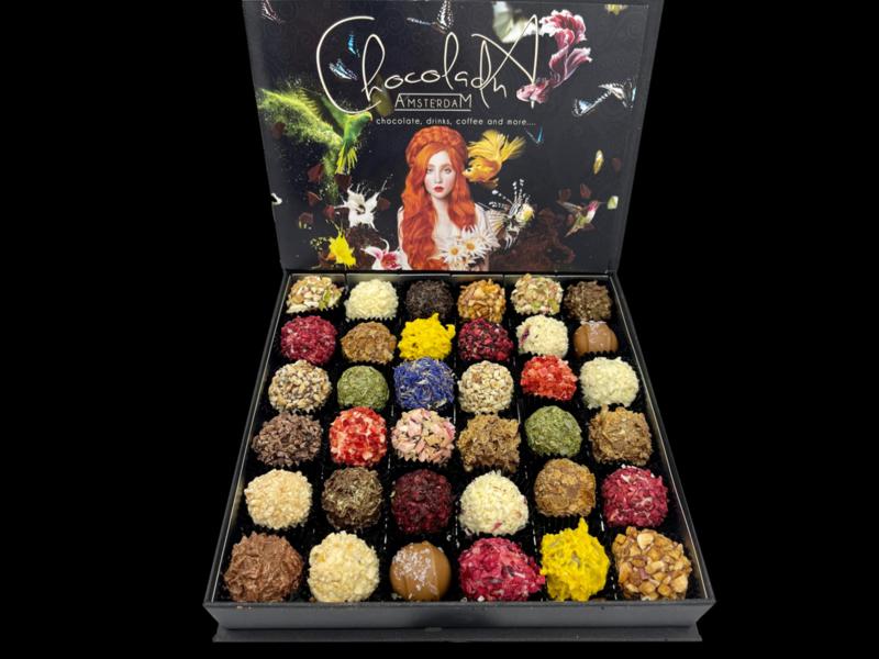 Groot - Luxe cadeaubox handgemaakte Chocoladna truffels