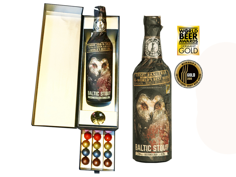 'Diamonds are a girls and man's best friend'- Luxe cadeaudoos met lade - Chocolade Diamanten(39) & Magnum Inselbier 75cl