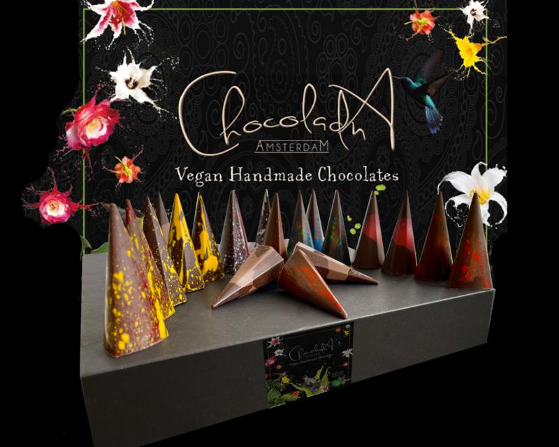 Extra Large - Luxe 100% vegan bonbons - Assortiment van vegan, lactose en glutenvrije luxe chocolade (56 stuks)