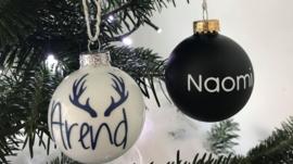 Kerstbal met naam of gewenste tekst