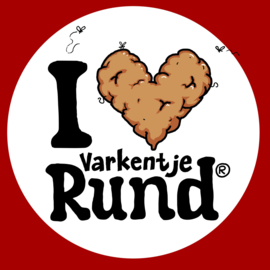 I love Rund S Kindermaat 123/12 Rood
