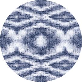 Vinylkarpet STARDUST rond (zwart of blauw)