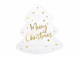 Servetten Merry Christmas Kerstboom