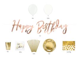 Partybox Happy Birthday - Goud