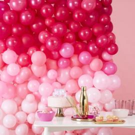 Ballonnenmuur Roze