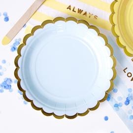 Bordjes Lichtblauw - Goud