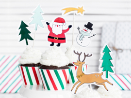 Merry Xmas Cake Toppers