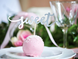 Cupcake Toppers Love - Zilver