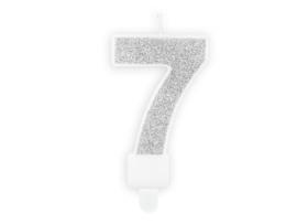 Kaarsje 7 Zilver