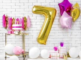 Cijfer XL Folieballon 7 - Goud
