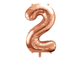 Cijfer XL Folieballon 2 - Rosé