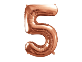 Cijfer XL Folieballon 5 - Rosé
