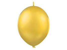 Doorknoopballonnen Goud