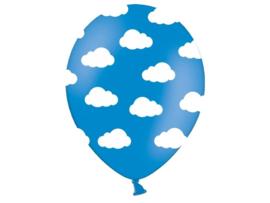 Ballonnen Wolkjes Blauw-Wit