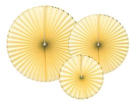 Papieren waaiers geel
