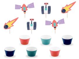 Cupcake set - Space