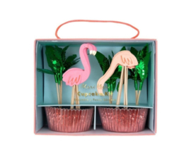 Cupcake Set - Flamingo
